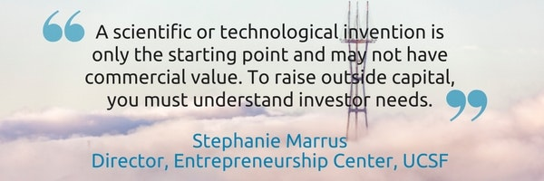 Stephanie MarrusDirector, Entrepreneurship Center, UCSF