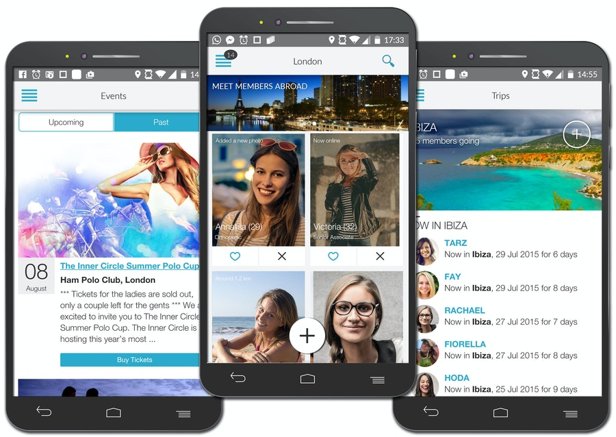 inner circle dating app on android phones