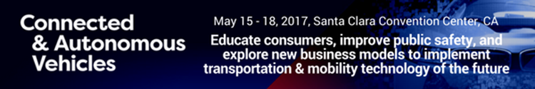 Book now to attend this year's Connected & Autonomous Vehicles Conference in Santa Clara