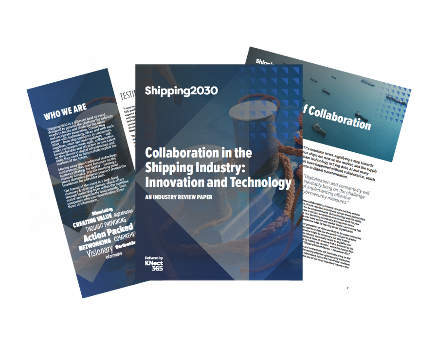 Shipping2030 Industry Review ePaper, Collaboration in Shipping, Innovation and Technology