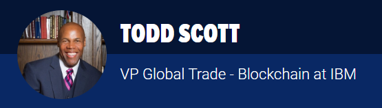 Shipping2030 Asia Speaker Todd Scott, IBM Blockchain, Singapore 2018