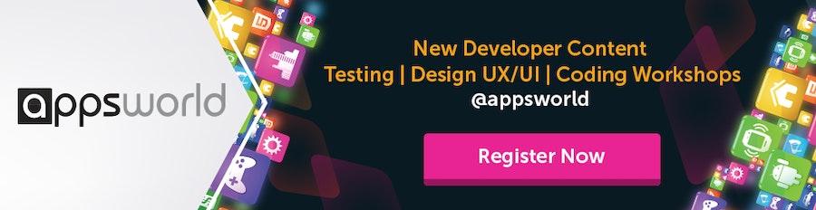 Apps World Developer Banner