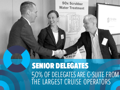 Senior delegates: 50% of delegates are C-Suite representing the largest cruise operators