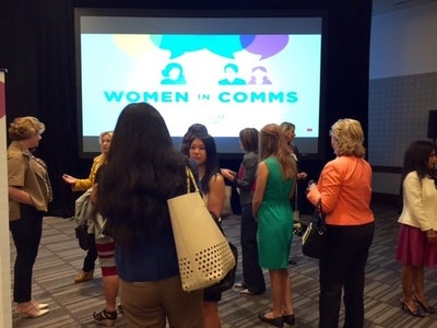 Networking at our WiC Breakfast in Dallas (September 2015)