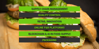 Key Themes: Supply Chain Management, Quality Control, Retail Innovation, Online F&B Platforms, Blockchain and AI in Food Supply, Packaging