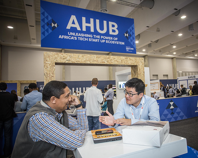 Delegates sitting at the AHUB