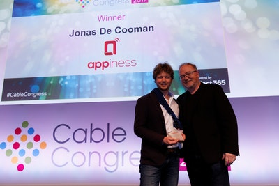 Award winner Jonas De Cooman with Phil McKinney