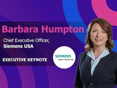 Baraba Humpton, CEO at Siemens USA is an executive keynote at IoT World conference