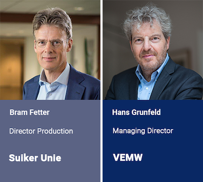 First experts to join the 2019 speaking faculty: Bram Fetter, Suiker Unie and Hans Grunfeld, VEMW