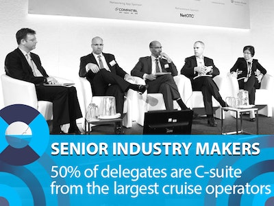 Senior industry makers:: 50% of delegates are C-Suite representing the largest cruise operators