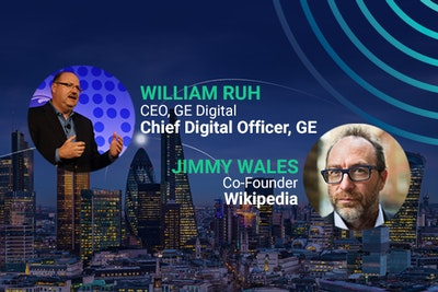 Headliner speakers, William Ruh, JAmes Wales, GE Digital, Wikipedia