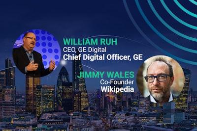 Headliner speakers, William Ruh, JAmes Wales, GE Digital, Wikipedia