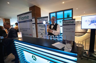 Flame conference beer bar
