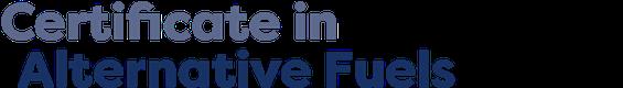 Certificate in Alternative Fuels