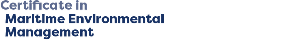 Certificate in Maritime Environmental Management