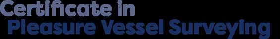Certificate in Pleasure Vessel Surveying