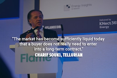 Charif Souki from Tellurian speaking at the Flame conference