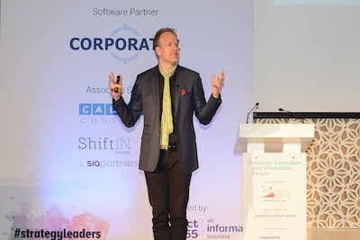 Magnus Lindkvist speaking at Strategy Execution and Innovation Forum
