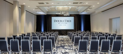 A conference room in the Doubletree by Hitlon