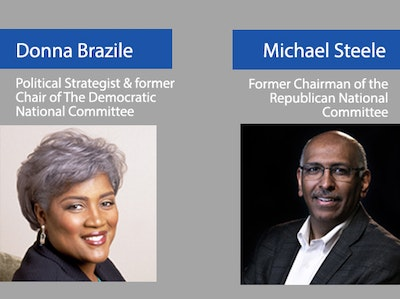 Donna Brazile and Michael Steele
