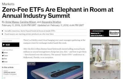 Zero-fee ETFs are the elephant in the room at Inside ETFs