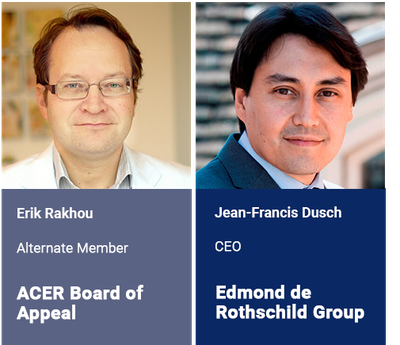 First experts to join the 2019 speaking faculty: Erik Rakhou, ACER Board of Appeal and Jean-Francis Dusch, Edmond de Rothschild Asset Management