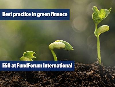 Best practice in green finance - ESG at FundForum International