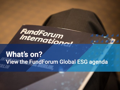 View the FundForum Global ESG agenda