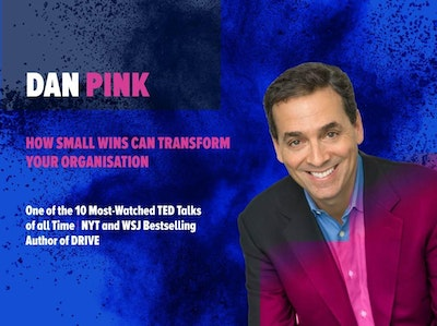 Dan Pink at HR Summit & Expo 2018. Keynote for HRSE 2018. Author of Drive. Ted Talks. How small wins can transform your organisation.