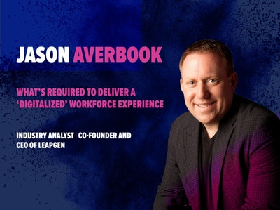 Jason Averbook at HR Summit & Expo 2018. Keynote for HRSE 2018.Industry analyst, co-Founder and CEO of Leapgen