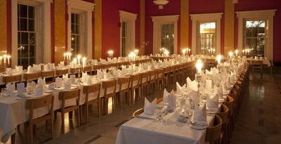 Dining Hall by candlelight