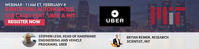 Autonomous Vehicle Use Cases Webinar Featuring Uber & MIT
