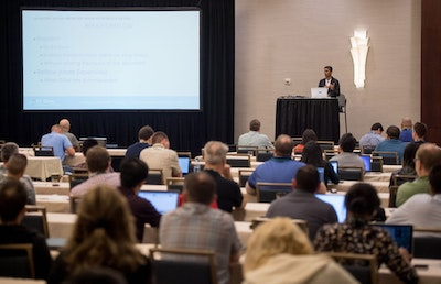 IT Dev Connections Speaker Leads In-depth training conference Session to a Group of IT Pros and Developers and DevOps.