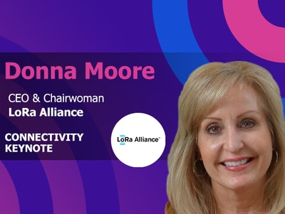 Donna Moore CEO & Chairwoman at LoRa Alliance is a connectivity keynote at IoT World conference