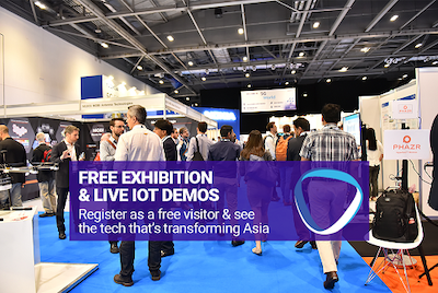Register a free exhibition pass to access live IoT demos