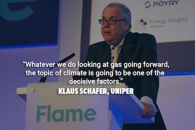 Klaus Schafer from Uniper delivers a keynote speech