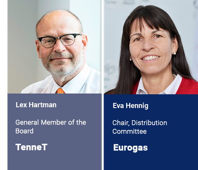 First experts to join the 2019 speaking faculty:Lex Hartman, TenneT and Eva Hennig, Eurogas
