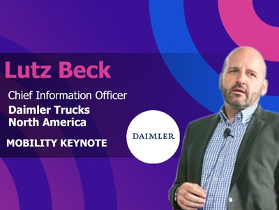 Lutz Beck CIO at Daimler Trucks North America is a mobility keynote at IoT World conference
