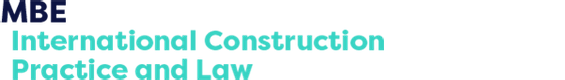 MBE International Construction Practice and Law