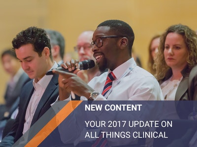 New Content: Your 2017 update on all things clinical