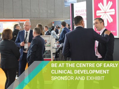 Be At The Centre of Early Clinical Development: Sponsor or exhibit