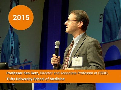 2015 - Professor Ken Getz, Director and Associate Professor at CSDD, Tufts University School of Medicine