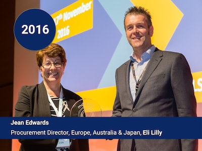 2016 - Jean Edwards Procurement Director, Europe, Australia & Japan, Eli Lilly