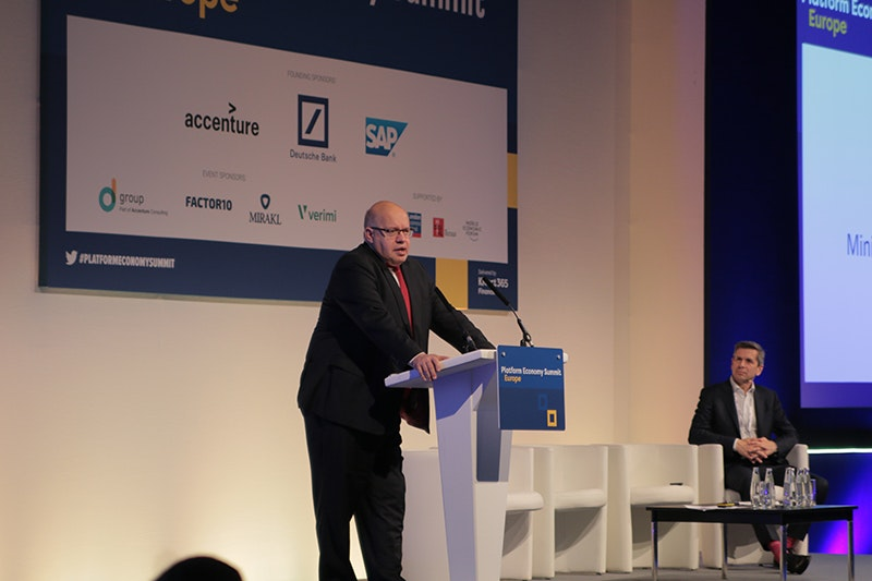 Platform Economy Summit Europe - Peter Altmaier, Minister of Economic Affairs, Germany
