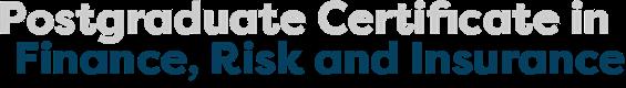 PGCert Finance, Risk and Insurance