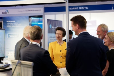 Princess Anne Visits the IHMA Congress Exhibition and Speaks to Attendees