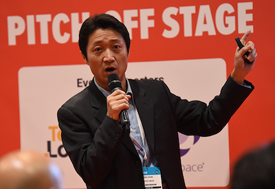 Startup Elevate with Startup Stage background