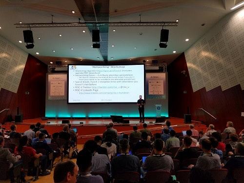 Audience Shot at RISC-V Workshop  Barcelona