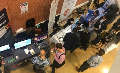 Registration desk at RISC-V Workshop Barcelona