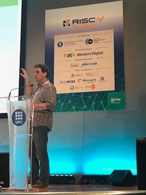 Speaker shot at RISC-V Workshop Barcelona